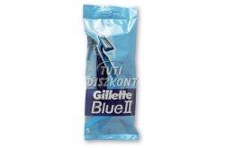 Gillette Blue II/Chronium eldobható borotva, 5 db
