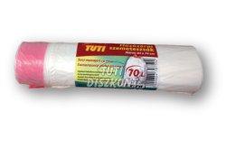 TUTI húzózáras szemetes extra 70l, 15 db