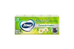 Zewa Deluxe papírzsebkendő 3 rétegű 10X10db Kamilla, 10 db