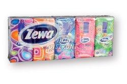 Zewa Deluxe papírzsebkendő 3 rétegű 10X10db Style színes, 10 db