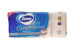 Zewa Deluxe WC papír 3 rétegű Classic Fehér, 8 tek