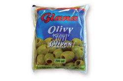 Giana olivabogyó magozott zöld tasakos, 200 ml