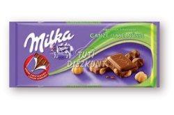 Milka táblás csokoládé Egész mogyorós X, 100 g