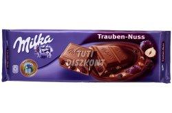 Milka táblás csokoládé Mazsola-mogyoró X, 100 g