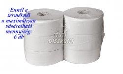 WC papír közületi midi 23cm fehér 2 rétegű 170m rec., 1 tek