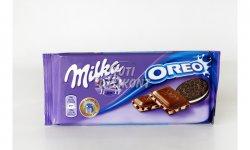 Milka táblás csokoládé Oreo X, 100 G