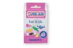 Cure-Aid sebtapasz gyerek ( vegyes állatmintás), 20 DB