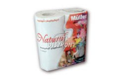Müller Natural kéztörlő 2 rétegű 50 lapos, 2 TEK