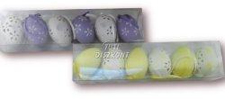 Húsvéti tojás 6cm hengerben, 6 DB