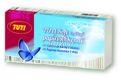 TUTI Soft papírzsebkendő 3rét. 80db-os natúr, 80 DB