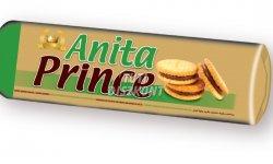 Anita Prince töltött keksz mogyorós, 125 G