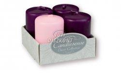 Adventi gyertya rózsaszín-lila 4 db-os, 1 cs