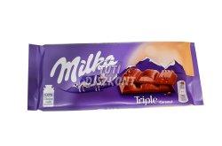 Milka táblás csokoládé tripla caramel X, 90 g
