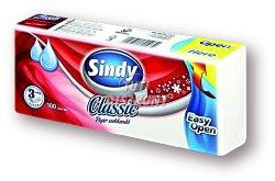 Sindy papírzsebkendő 3 rétegű Classic, 100 db