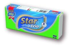 Star Trio papírzsebkendo 3 rétegű, 100 db