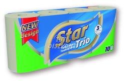 Star Trio Wc papír 3rétegű 10tek., 10 TEK
