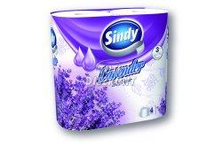 Sindy WC papír 3 rétegű Levendula, 4 tek