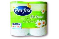 Perfex Boni DeLuxe WC papír 3 rét. kamillás, 4 tek