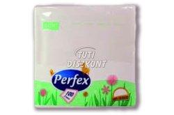 Perfex Boni szalvéta 1 rétegű 33x33 100db, 100 db