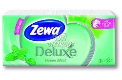 Zewa Deluxe papírzsebkendő 3 rtg 90db GreenMint/Strawberry, 90 db