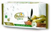 Belux nedves törlőkendő oliva flip top, 120 db