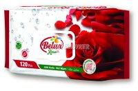 Belux nedves törlőkendő rózsa flip top, 120 db
