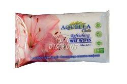 Aquella nedves törlőkendő virág illat, 15 db