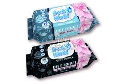 Fresh World nedv.törlőkendő virág illattal FlipTop, 70 db