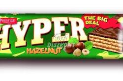 Hyper Hazelnut ostyaszelet mogyorókrémes, mártott, 55 G