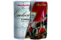 Müller Exclusive kéztörlő 3 rétegű 50 lapos, 2 TEK