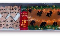 Karácsonyi fa csipesz leddel szív alakú, 1 cs