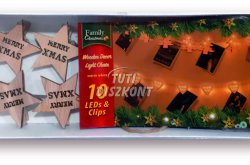 Karácsonyi fa csipesz leddel csillag alakú, 1 cs