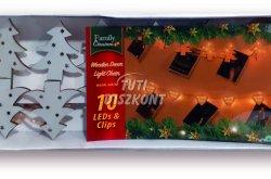 Karácsonyi fa csipesz leddel fenyőfa alakú, 1 cs