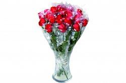 Tejcsokoládé rózsa műanyag száron, 20 G