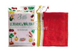 Everypack zöldség és gyümölcs zsák 26x36cm 3db, 1 CS