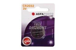AgfaPhoto Lithium gombelem CR2032 B1, 1 DB
