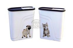 Eledel tároló doboz 4literes (kutya,macska), 1 DB