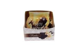 Illatgyertya poharas vanília 70gr, 1 db