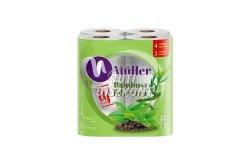 Müller WC papír 4 rétegű bambusz-fehértea, 8 tek