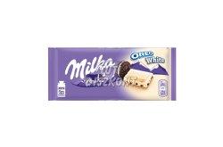Milka táblás csokoládé Oreo White X, 100 g